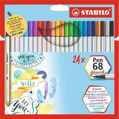 caneta stabilo brush pen 68 24un