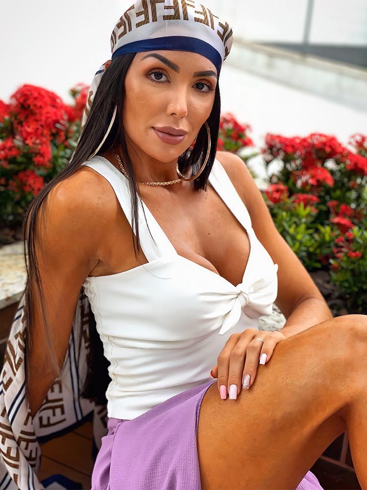 Blusa Amanda Branca com Alças Largas