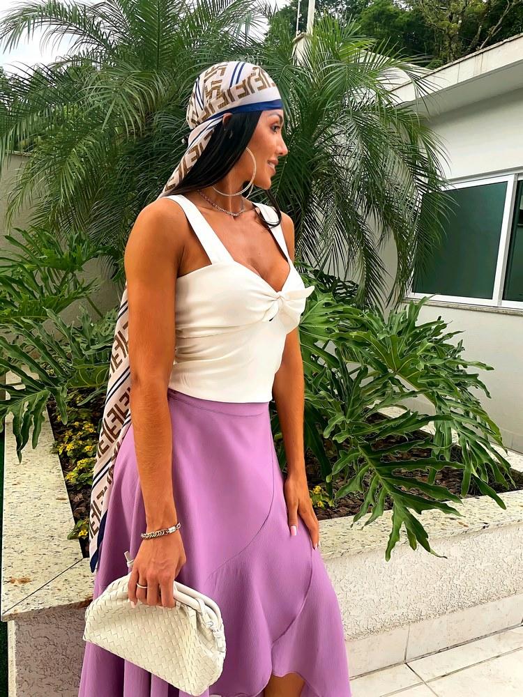 Blusa Amanda Branca com Alças Largas #3