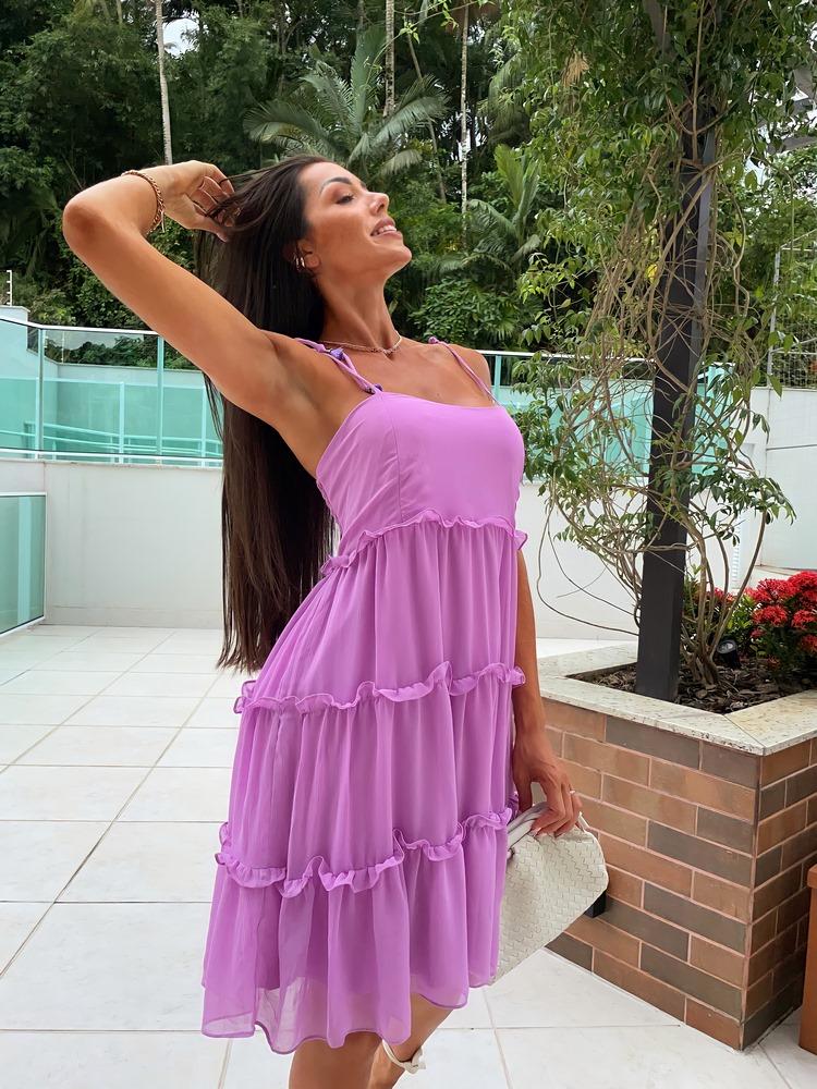 Vestido Afrodite Alças com Amarração