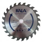 """Disco de serra para madeira 10"""" 254 x 30mm 24 dentes Kala 915190"""
