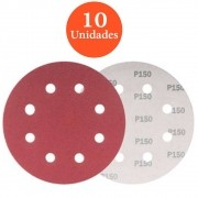 kit com 10 lixas 180mm grão 150 29113156
