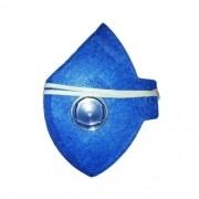 Máscara azul partículas toxicas com válvula