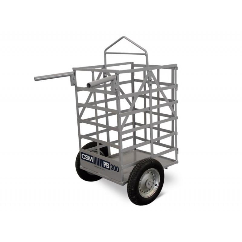 Carro porta bloco PB200 CSM com rodas de câmara