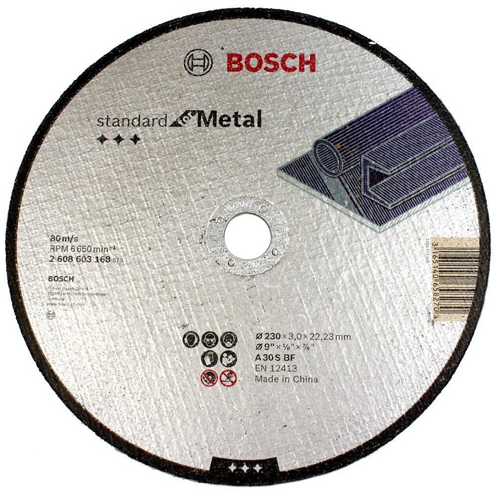 Disco de corte metal 230 x 3 x22,23mm Bosch 2608603168