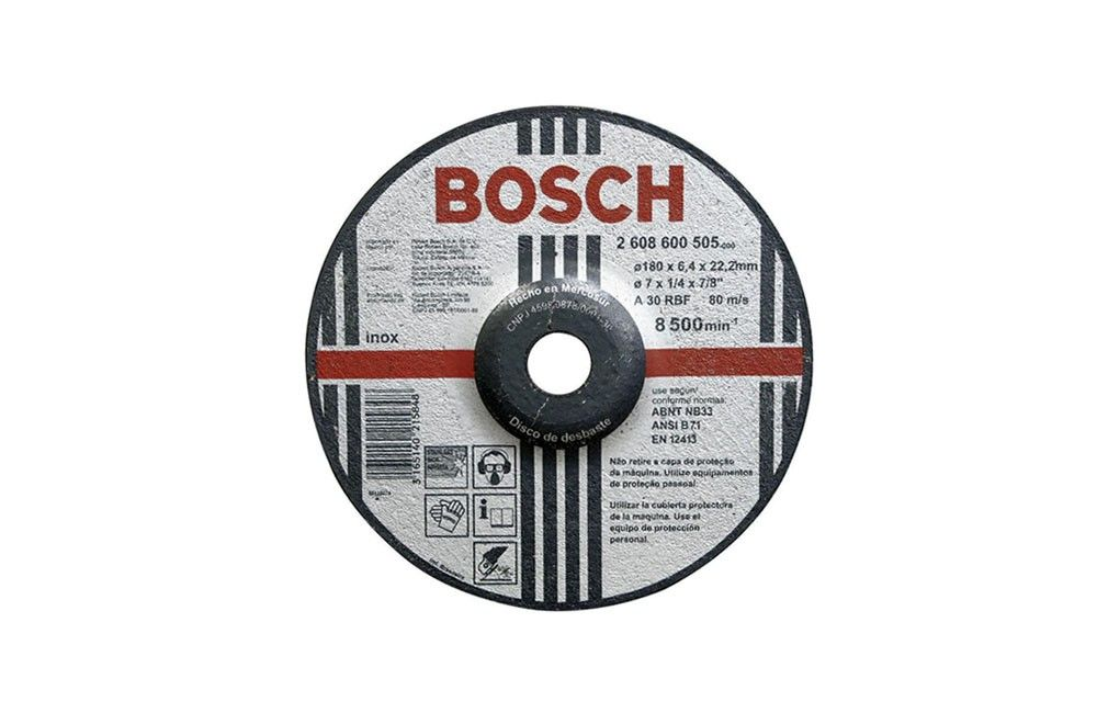"Disco de desbaste de inox 7"" X 6,4 X 22,23 Bosch 2608600505"