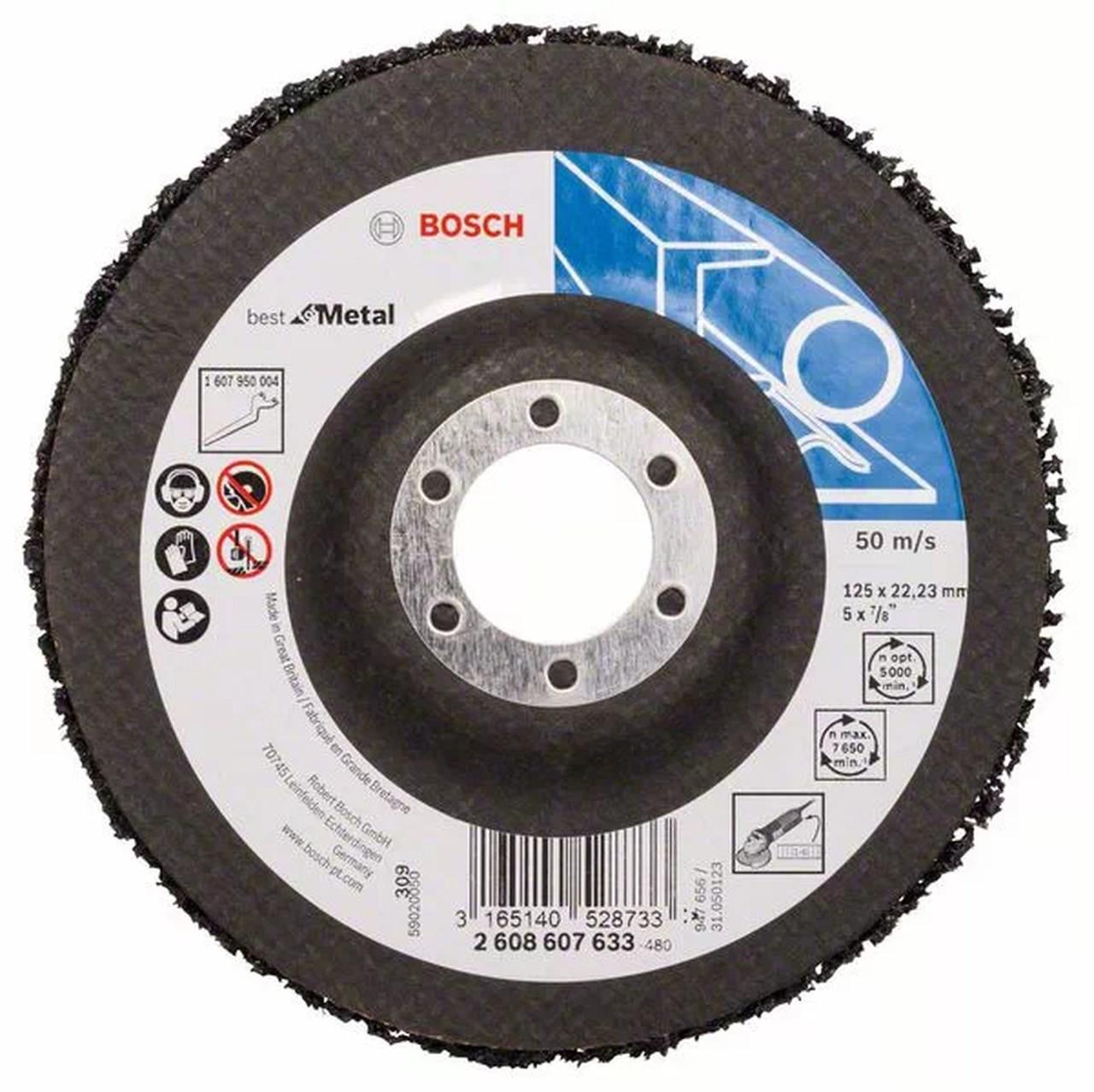 Disco de limpeza e acabamento 125mm X 22 Bosch 2608607633