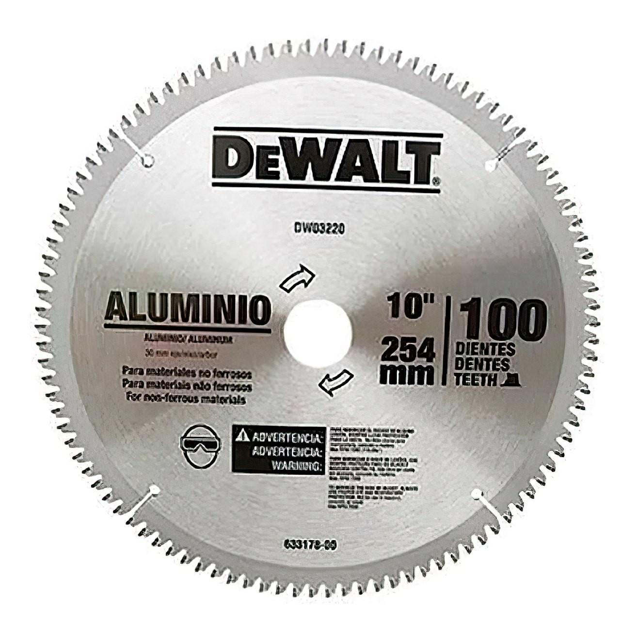 Disco de serra para aluminio e madeira Dewalt Dw03220