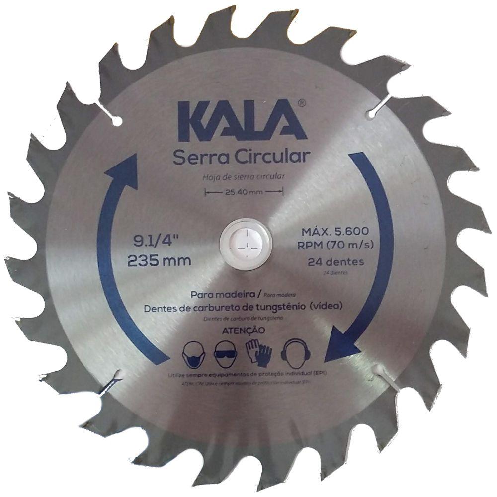 """Disco de serra para madeira 9"""".1/4"""" 24 dentes Kala 915106"""