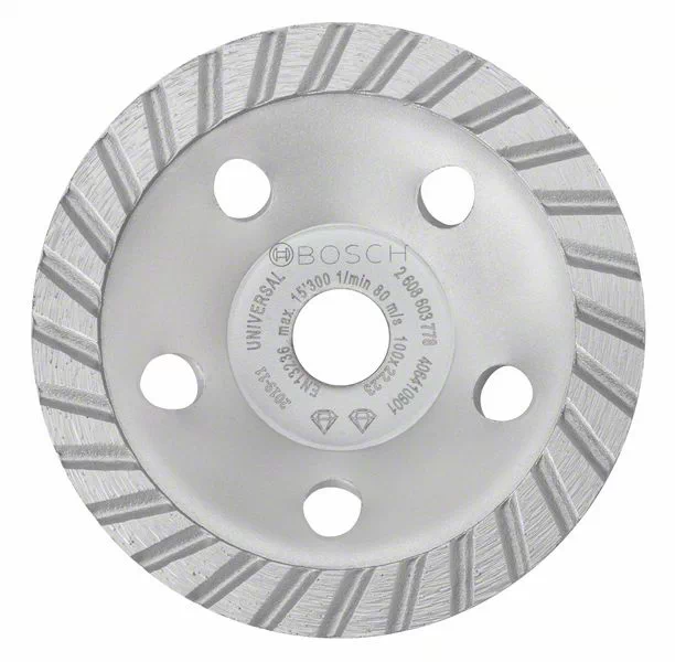 Disco desbaste diamantado turbo 100mm X 22,23 Bosch 2608601778