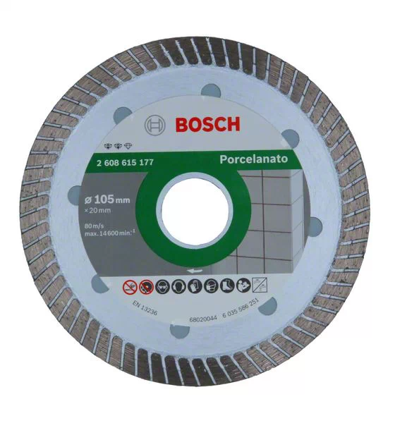 Disco diamantado porcelanato 105mm X 20mm Bosch 2608615177
