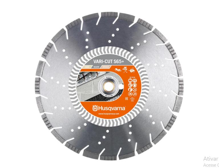 Disco diamantado segmentado 450mm Vari-cut S65h Husqvarna