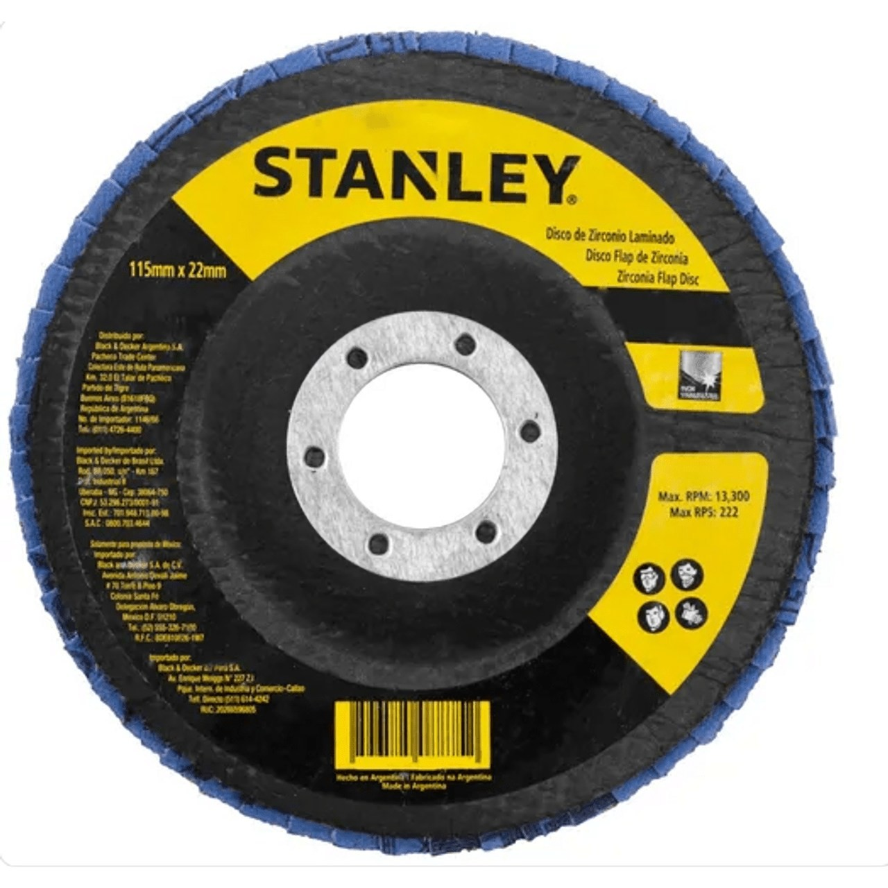 """Disco Flap 4.1/2"""" z120 Stanley Sta4120"""