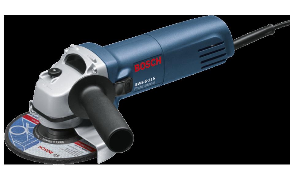 """Esmerilhadeira 4.1/2"""" 600w 220v GWS6-115 Bosch 0601375014"""