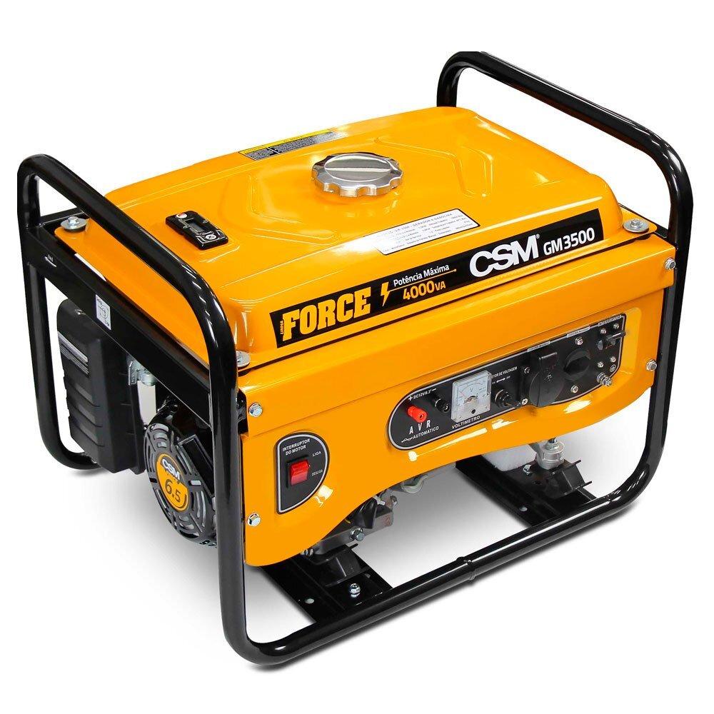 Gerador de energia a gasolina 4Kva 110/220v CSM GM3500 partida manual