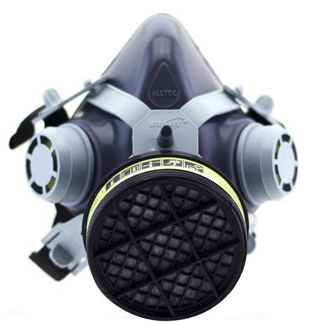 Máscara com filtro para vapor orgânico e acido Alltec