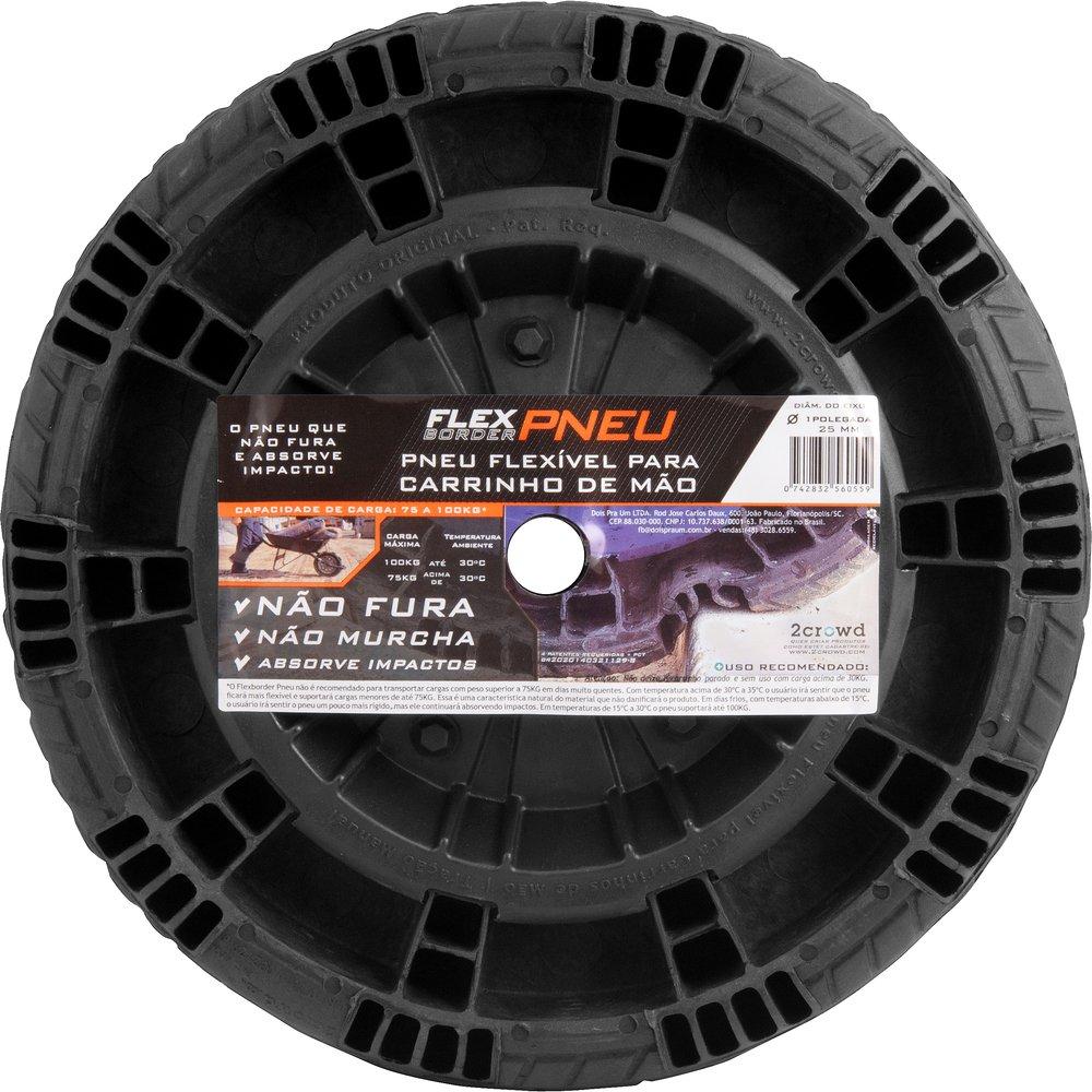 """Roda completa flex para eixo de 1"""" 25,5mm"""