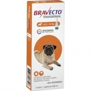 Antipulgas e Carrapatos Bravecto MSD Transdermal para Cães de 4,5 a 10 Kg- 1 Ampola 250mg