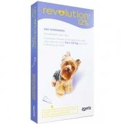 Antipulgas e Carrapatos Revolution Zoetis 12% para Cães de 2,5 a 5 kg 30 mg