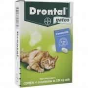 Vermífugo Drontal Gatos 4 Kg - Embalagem com 4 Comprimidos