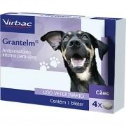 Vermífugo Virbac Grantelm para Cães com 4 Comprimidos