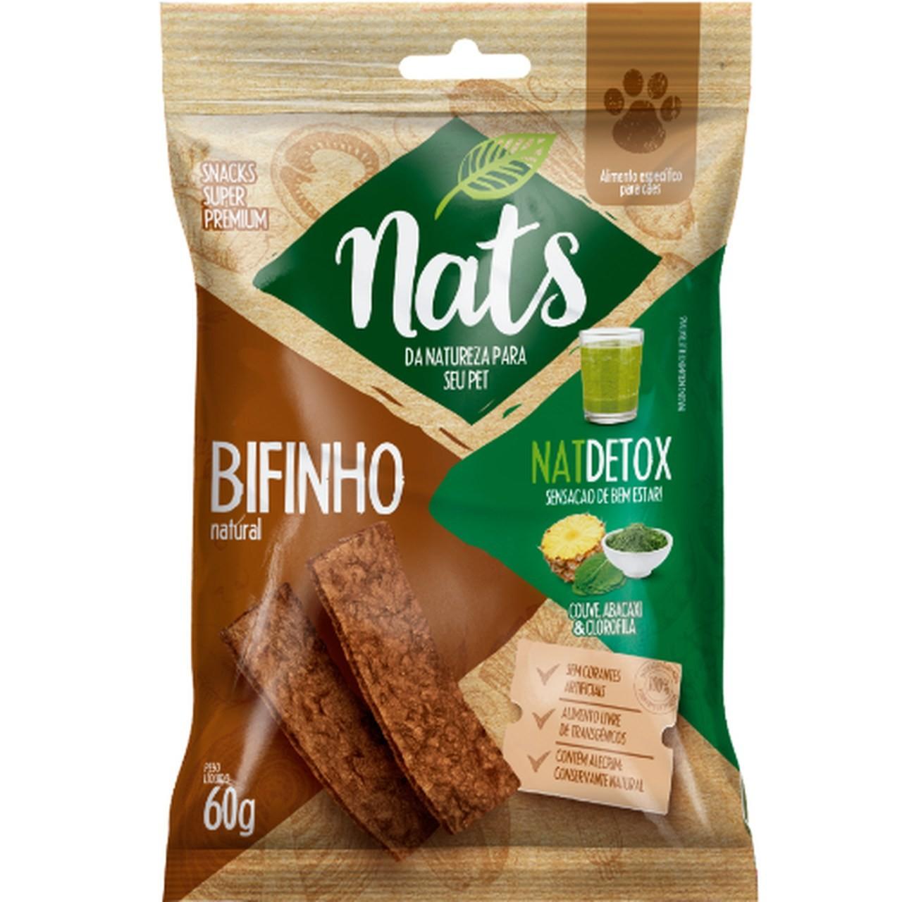 Bifinho Natural Nats NatDetox para Cães 60g