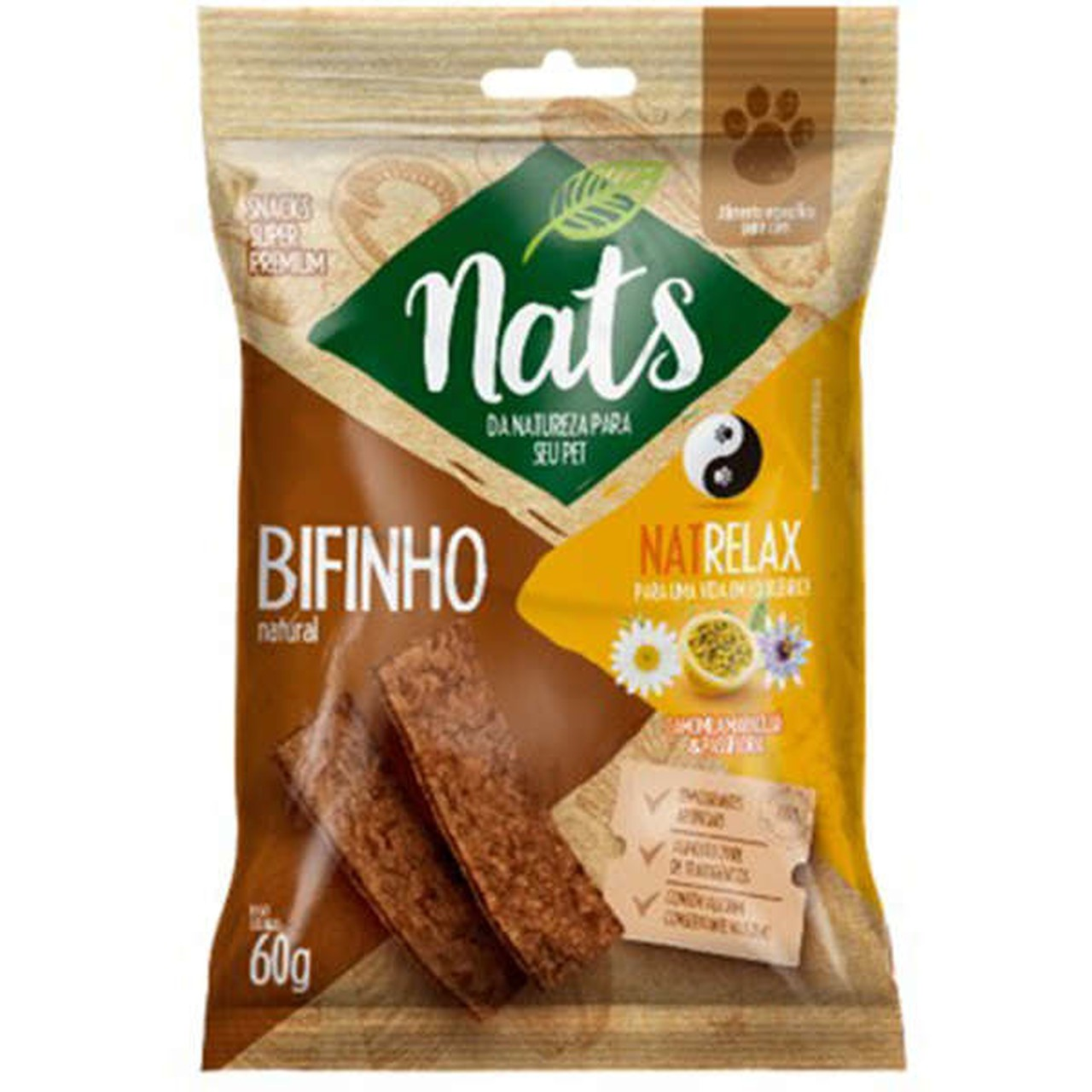 Bifinho Natural Nats NatRelax para Cães 60g