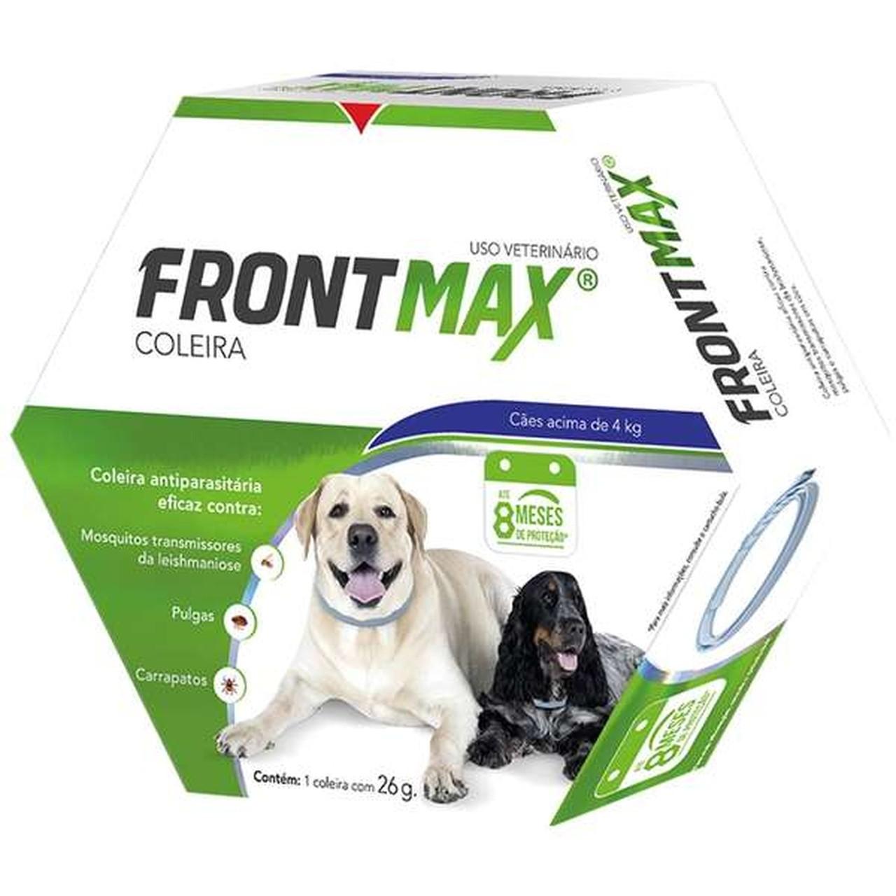 Coleira Antiparasitária Vetoquinol Frontmax para Cães Acima de 4 Kg