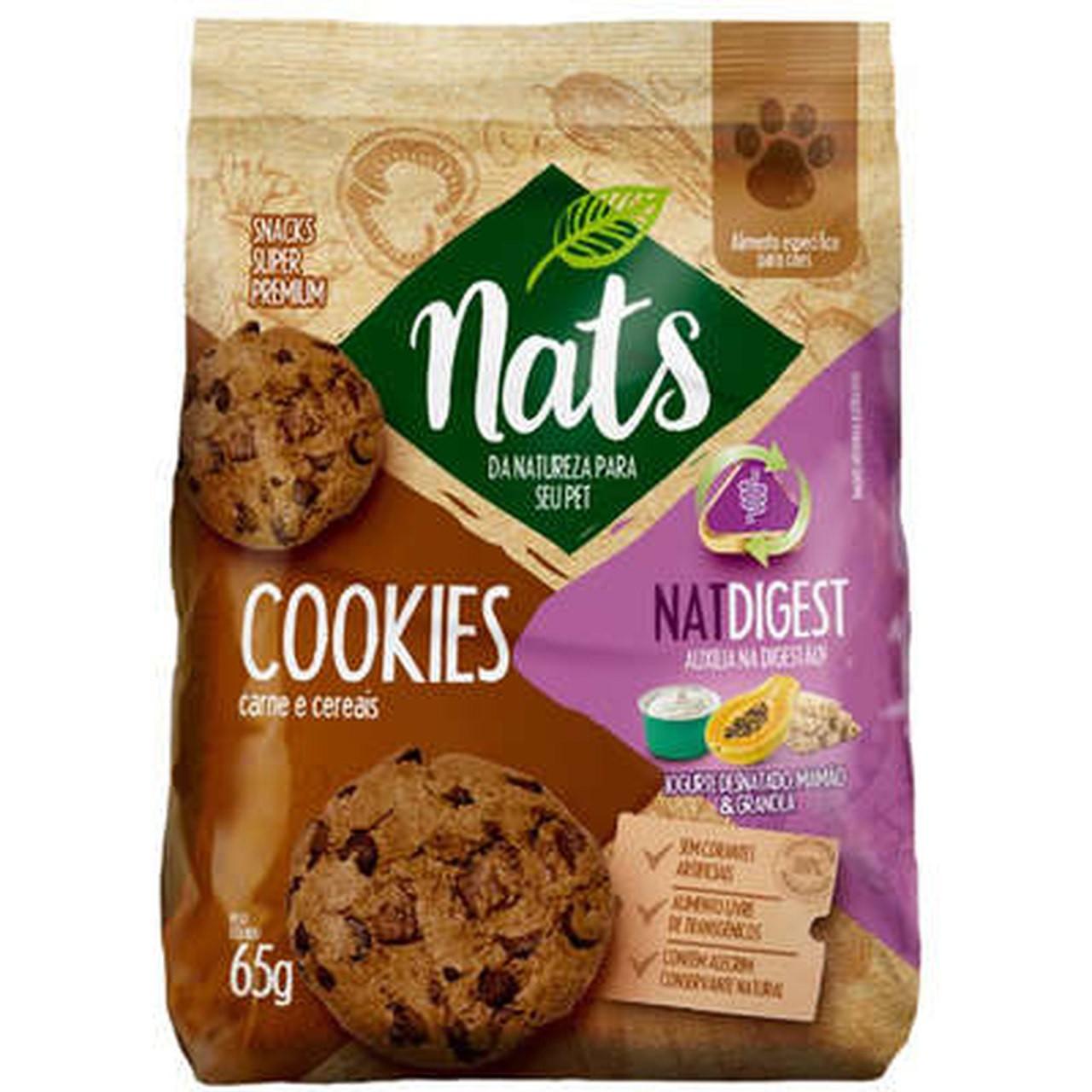 Cookies Nats NatDigest Carne e Cereais para Cães 65g