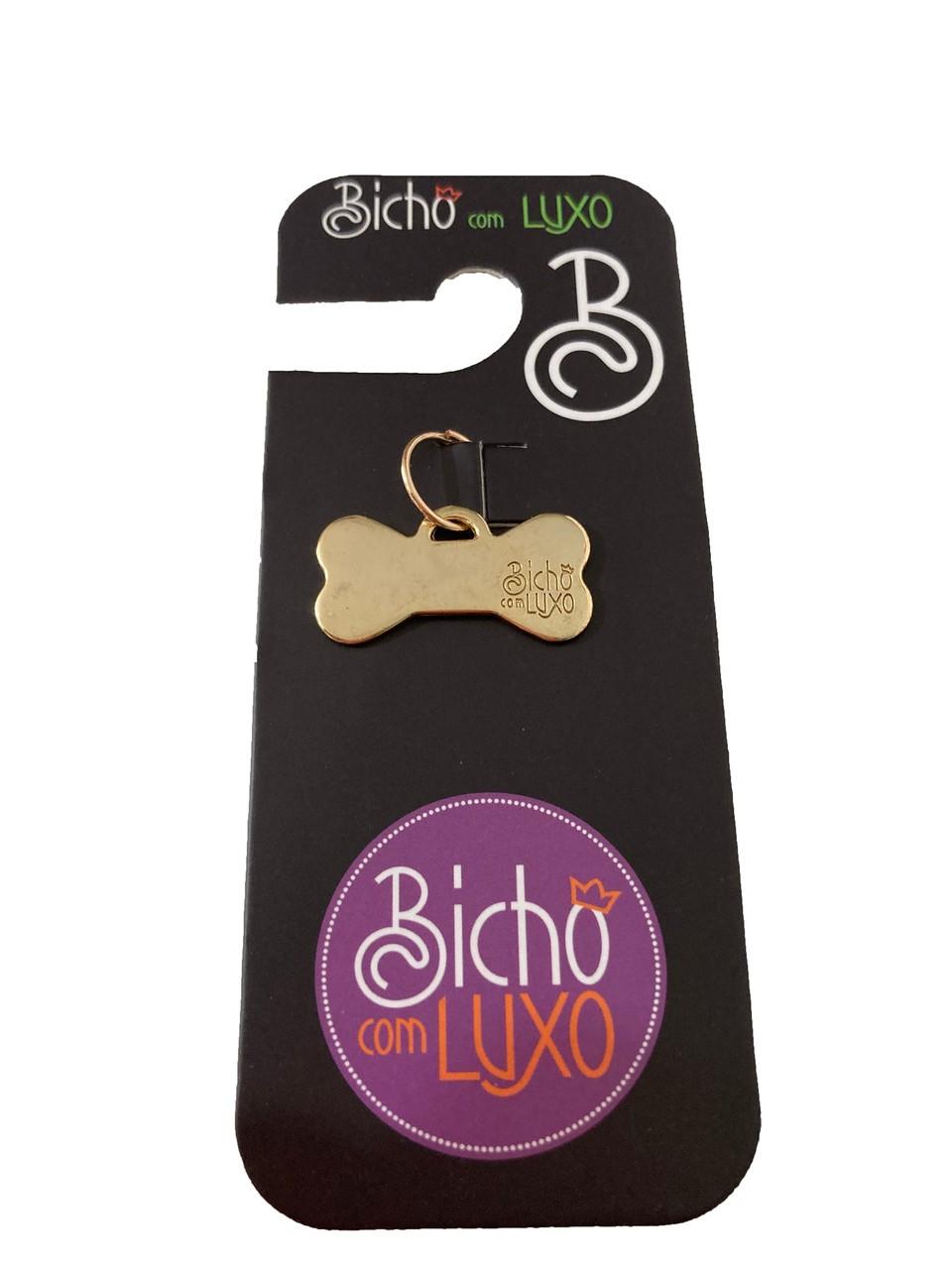 Pingente Osso P Dourado - Bicho com Luxo