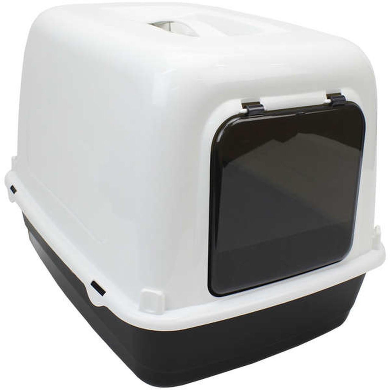 Sanitário Ferplast Clear Cat 10 Preto para Gatos