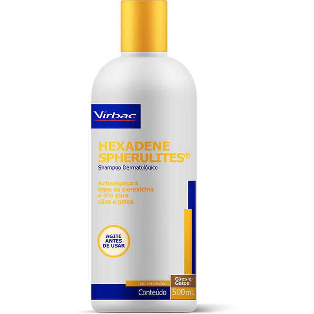 Shampoo Virbac Dermatológico  Hexadene Spherulites para Cães e Gatos