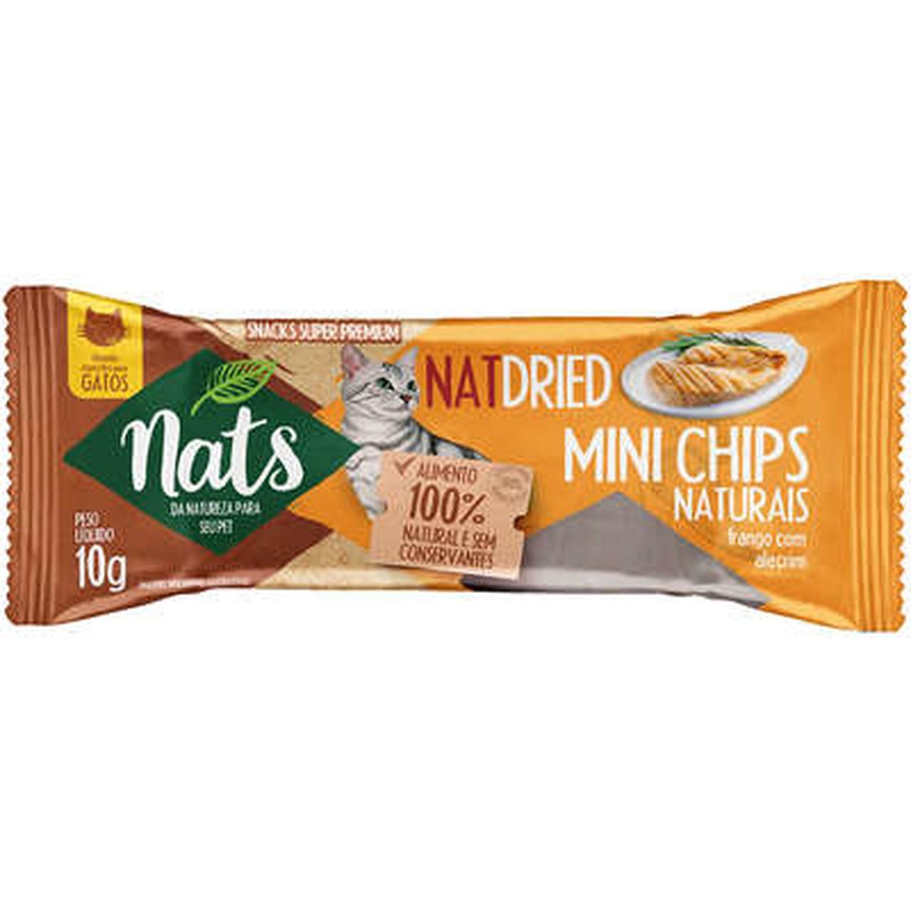 Snacks  Super Premium NatsNatDried Mini Chips para Gatos - 10 g
