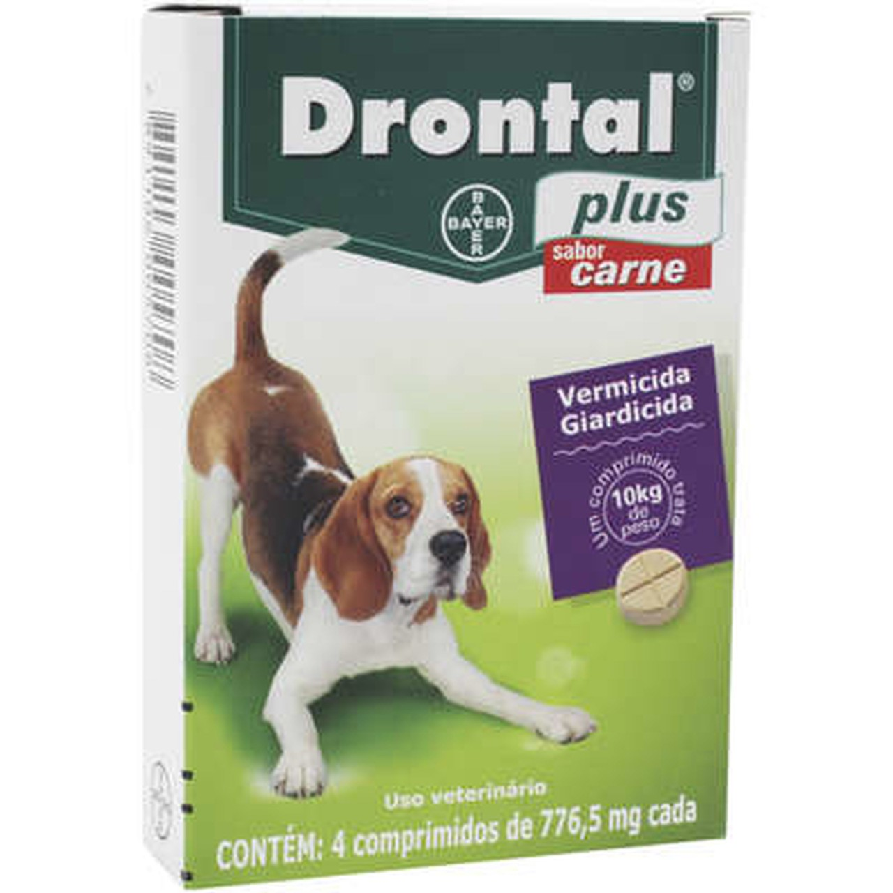 Vermífugo  Drontal Plus Sabor Carne - Bayer