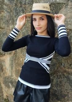 blusa linhas