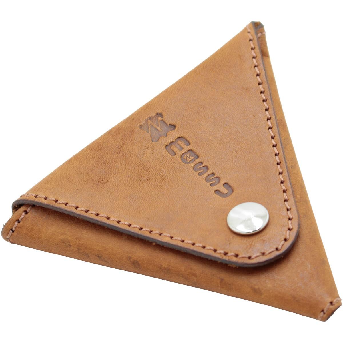 Porta Moedas  em Couro Triangular