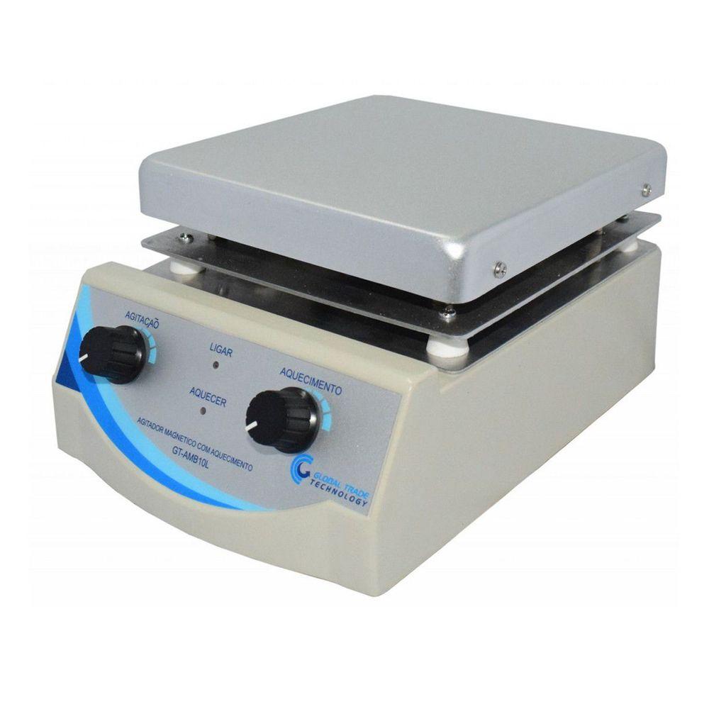 Agitador Magnético Analógico - com Aquecimento 0-2000rpm 10L - 220v