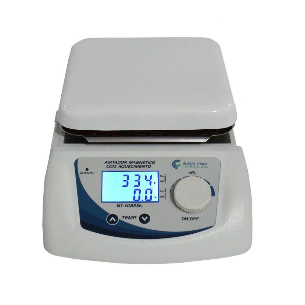 Agitador Magnético Digital - com Aquecimento 5L