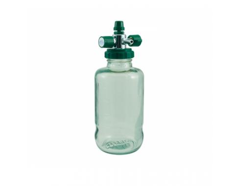 Aspirador Venturi p/ Rede Canalizada de Oxigênio c/ Frasco de Vidro 500 ml - AR110