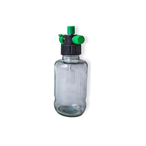 Aspirador Venturi para Rede de Oxigênio / Vacuômetro com Frasco de Vidro 500 ml