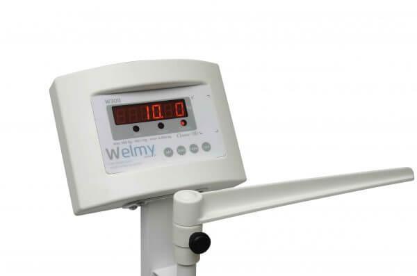 Balança Antropométrica Digital com capacidade para 300 Kg com divisão em 50g