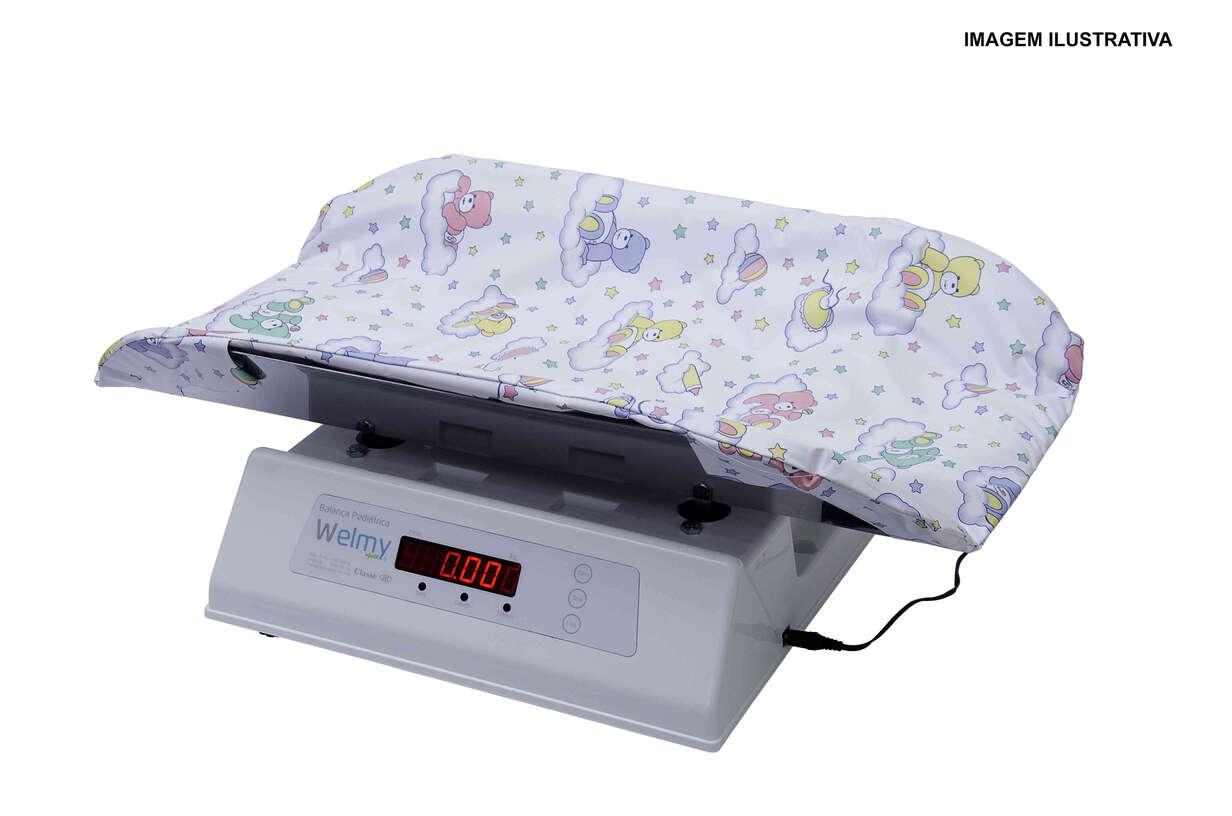 Balança Antropométrica Digital Infantil com Capacidade de 30 Kg em Inox com Capa Plástica