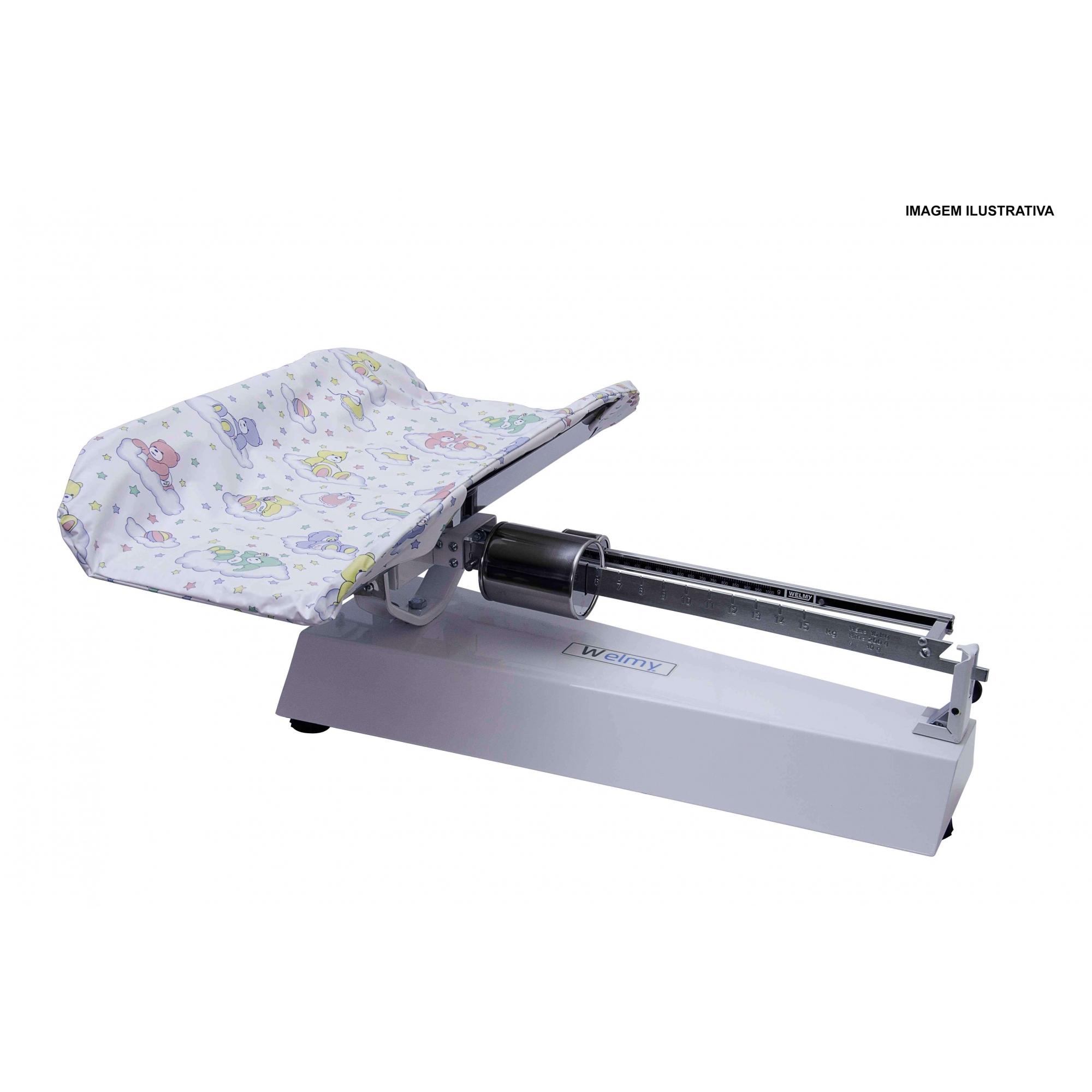 Balança Antropométrica Mecânica Infantil 16 Kg com Concha em Inox