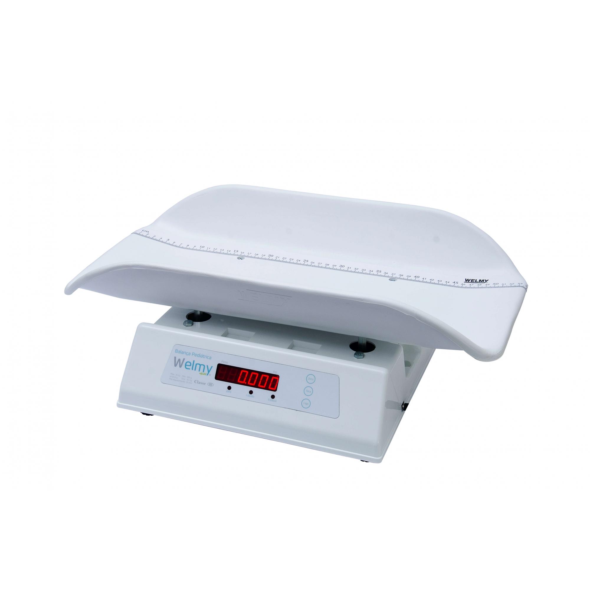 Balança Antropométrica Digital Infantil 15 ou 30kg Polipropileno