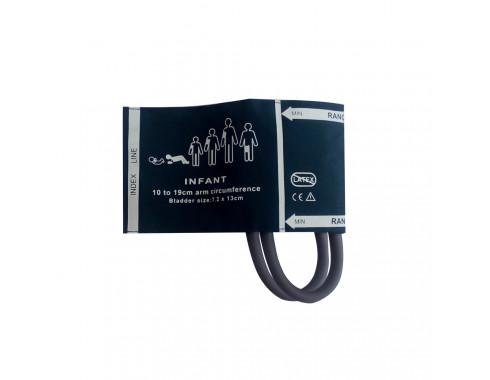 Braçadeira PNI 2 Vias Infantil 10-19cm em Silicone c/ Manguito Acoplado p/ Esfigmomanômetro