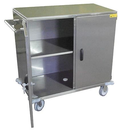 Carro Hospitalar Fechado para Materiais e Roupas fabricado em Inox
