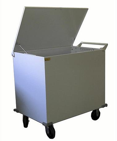 Carro Hospitalar para Roupas Sujas Fabricado em Aço