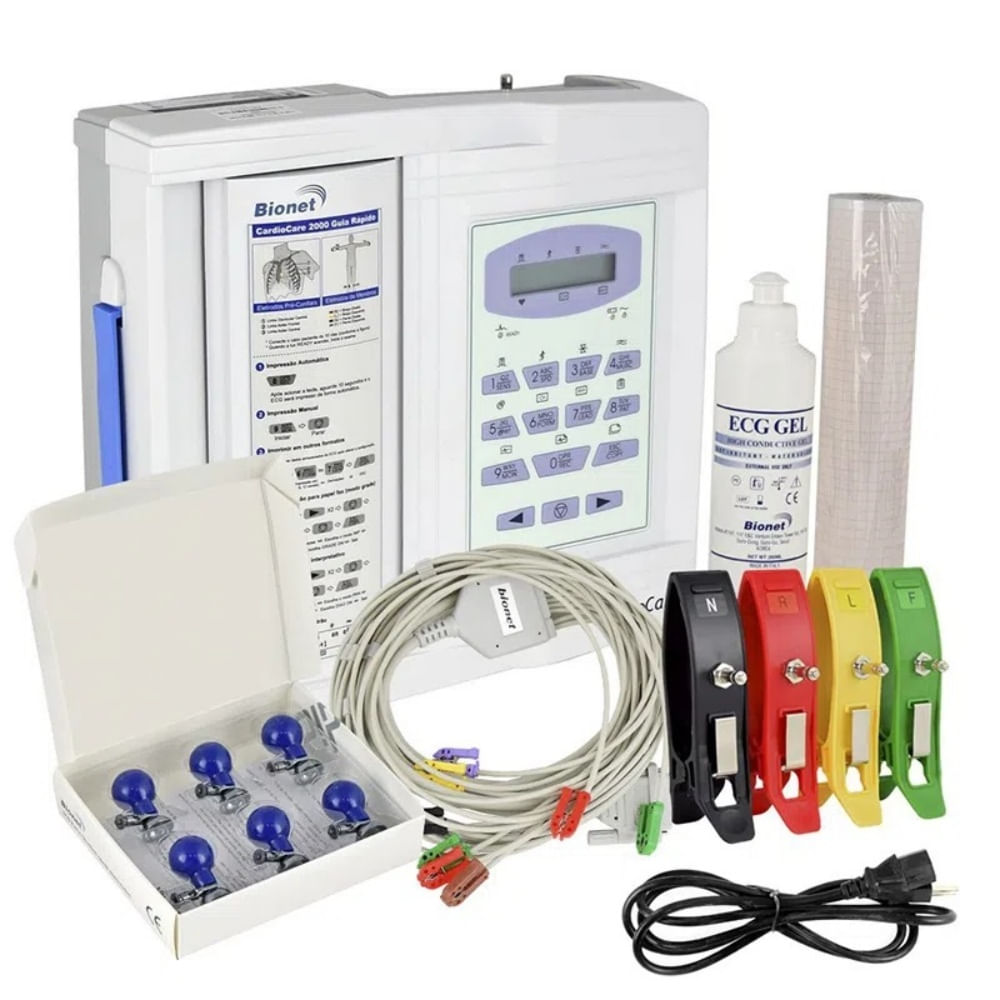 Eletrocardiógrafo ECG 12 Canais - CardioCare 2000