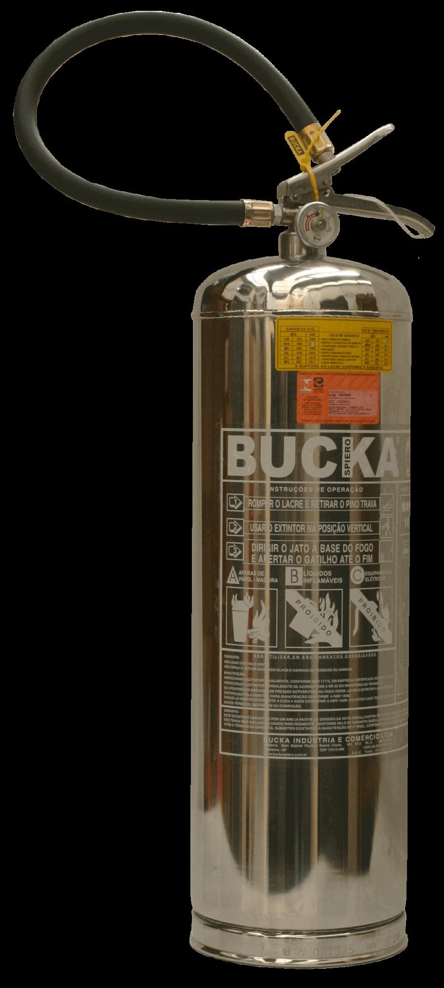 Extintor de Incêndio em Aço Inox 2,5 kg p/ Sala de Ressonância Magnética