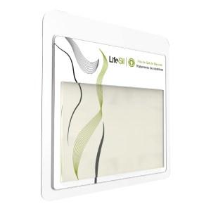 Fita de Gel de Silicone p/ Tratamento de Cicatrizes e Queloides - Modelo Formato Placa 15x10cm - Lifesil